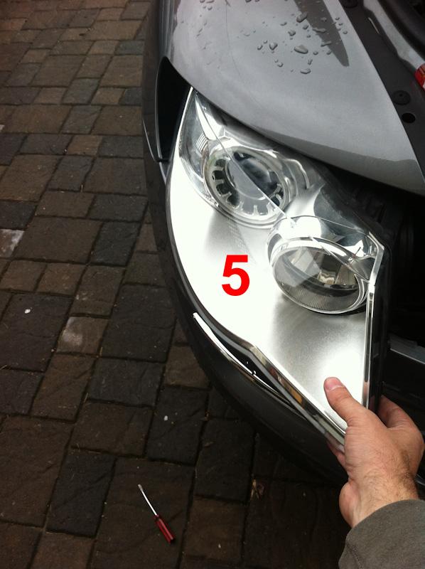 2009 vw touareg headlight bulb removal
