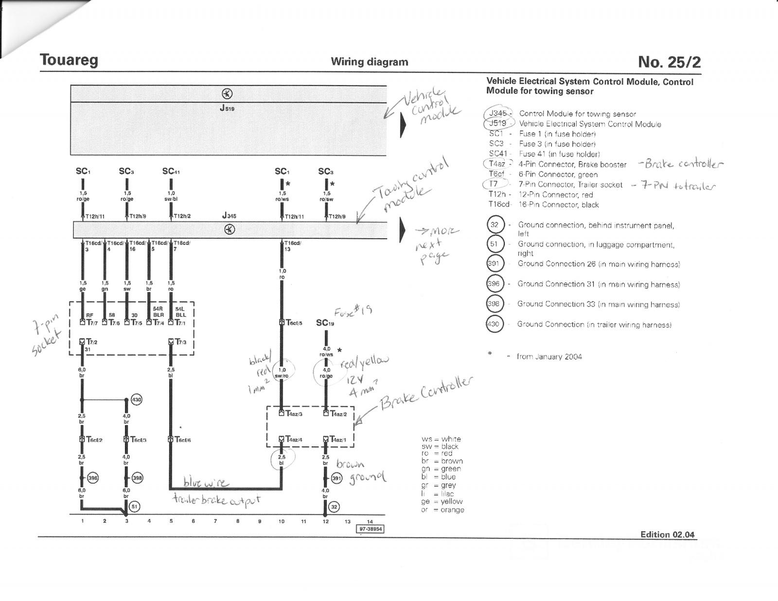 volkswagen touareg wiring diagram