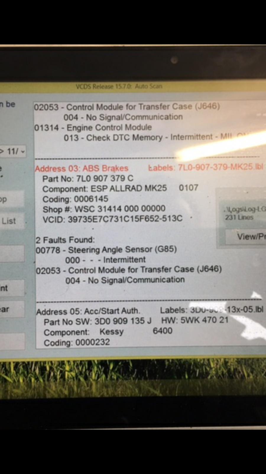 01314 Engine Control Module Vw