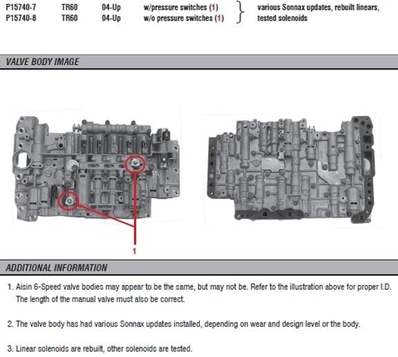 T1 V10 trans valve body the same as V6 V8? | Club Touareg Forum