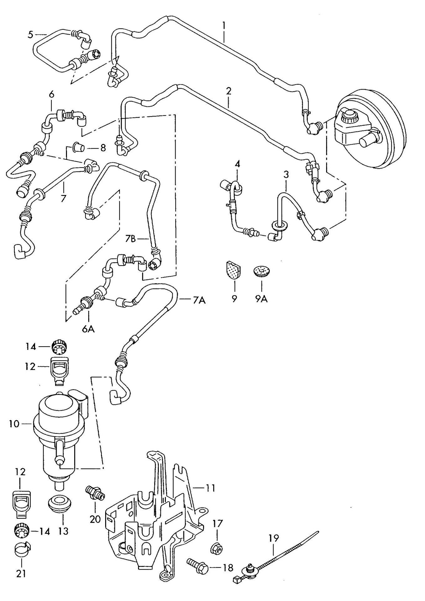 39 05 v6 size source for vacuum line to brake system vac. Black Bedroom Furniture Sets. Home Design Ideas