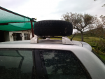 spare wheel solution on roof rack | Club Touareg Forum
