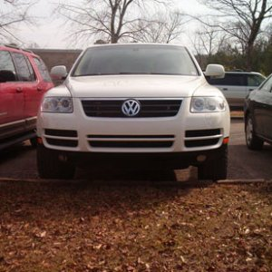 Front view of Touareg